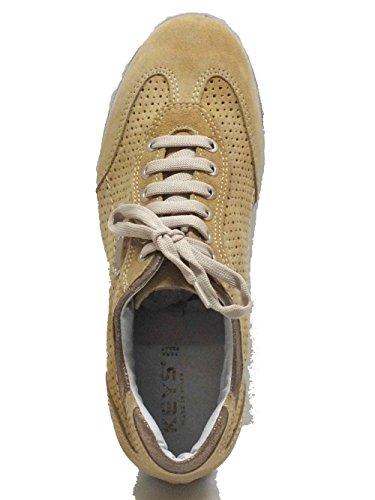 Keys  4509 Sabbia, Damen Sneaker Braun Marrone Sabbia