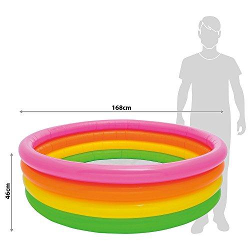 INTEX Sunset Glow Pool, mehrfarbig, 168×46 cm, 56441NP