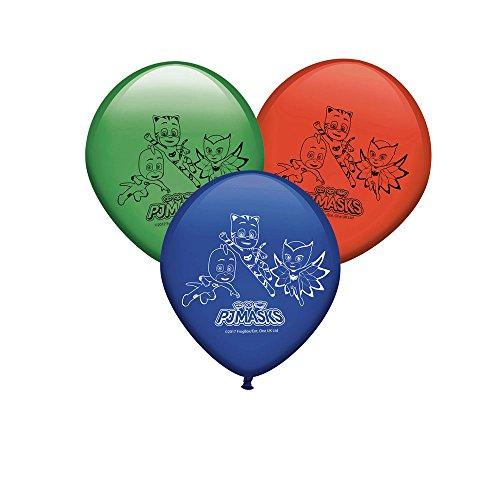 Generique - 8 Ballons en Latex Pyjamasques