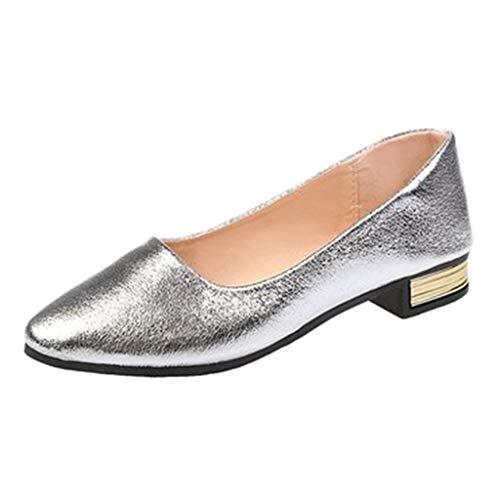 Damen Klassische Ballerinas,Bovake Fläche Pumps Casual Flach Sandalen Freizeit Schlüpfen Party Schuhe Mary Jane Halbschuhe (36, ()