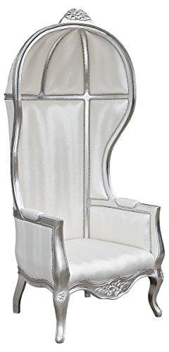 Febland Silver Frame Porter's Chair, Fabric, 75x80x175 cm