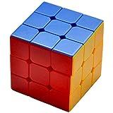 Toyshine High Stability Stickerless   3x3x3 Speed Cube, Multi Color