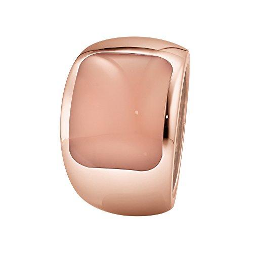 XEN Ring mit 15x12 mm großen Chalzedon rosé-vergoldet 54 (17.2)