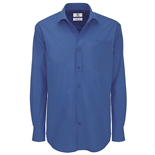 B&C Collection Heritage long sleeve /men Blue Chip
