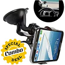 GKP Products Combo of -2 1x Universal Car Mount Holder & 1x USB LED Light for PC, Mobile Phones