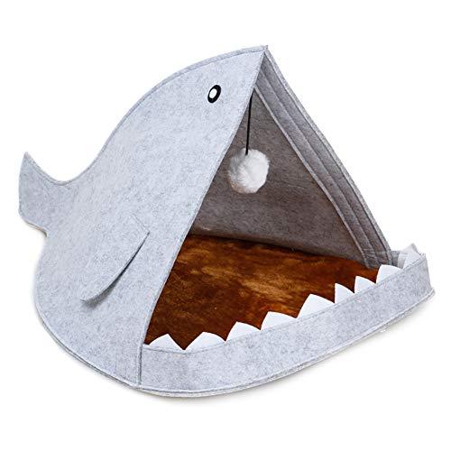 1pc Tiburón Forma De Fieltro Gato Del Perro De La