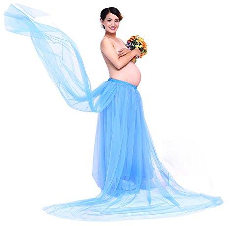 Hopeverl Props di maternità Props gonna lunga per la gravidanza Shoot Blu