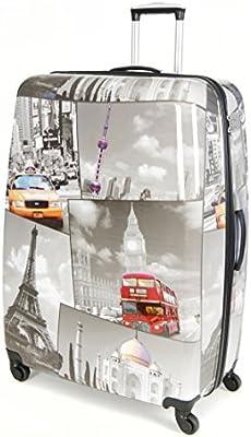 5Cities-Carcasa rígida de policarbonato de 4ruedas Spinner casos para carrito de equipaje maleta de viaje con TSA Aprobado 3Dígitos Candado de combinación