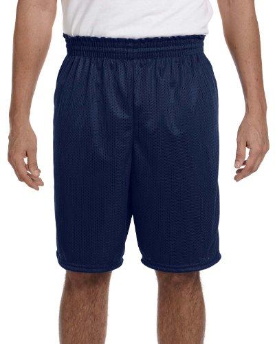 Augusta Sportswear Men's Tricot Lined Elastic Long Mesh Short, NAVY, XX-Large - Augusta Sportswear Mesh Shorts