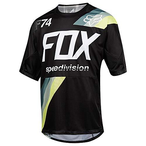 Fox Demo SS Drafter Jersey, noir, Taille M