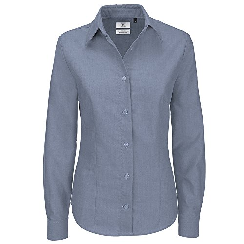 B&C Collection Oxford long sleeve /women Silver Moon
