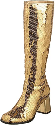 pleaser Damen Spectacul-300sq, Gold Sequins, 42 EU (Women's Bauern Kostüm)