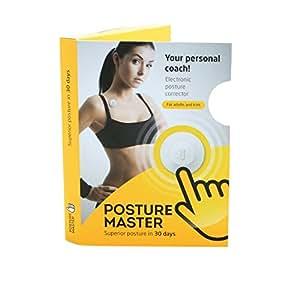 Posture Master, dispositivo di supporto per correzione postura, personal coach, unisex, Device Personal Coach, White