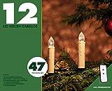 12 Christbaumkerzen LED Weihnachtsbaum Beleuchtung mit 12 LED Kerzen warmweiß kabellose LED Kerze Mini