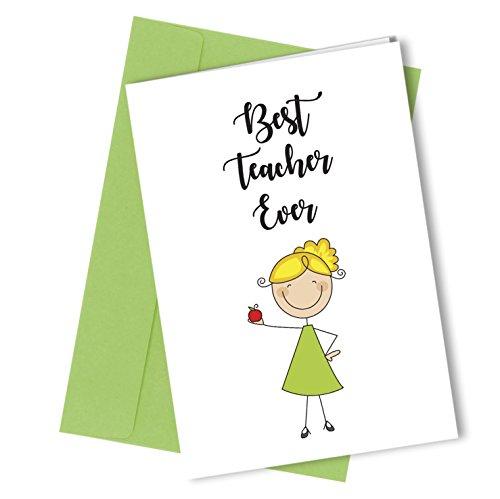 # 256 Tarjeta felicitación mejor profesor A4 plegado