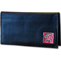 NCAA Maryland Terrapins Leather Checkbook Cover