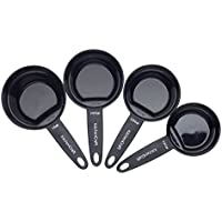 KitchenCraft Nesting Magnetic Set of 4 Measuring Cups - Black