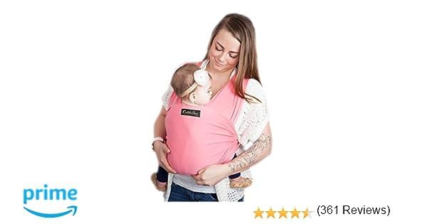 9d58d5b80a0e4 Écharpe de portage grise pour bébé - ENTIÈREMENT NATURELLE - Livraison  gratuite - Taille Unique - Satisfaction garantie ou argent remis (Pink)