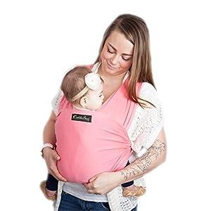 CuddleBug-Fular-Portabeb-Unisex-Un-Tamao-para-Todos-Porta-beb-para-Madre-y-Padre-Tela-4-en-1-Multiuso-Portador-Manta-para-Lactancia-Canguro-Cinturn-posparto-Rosa