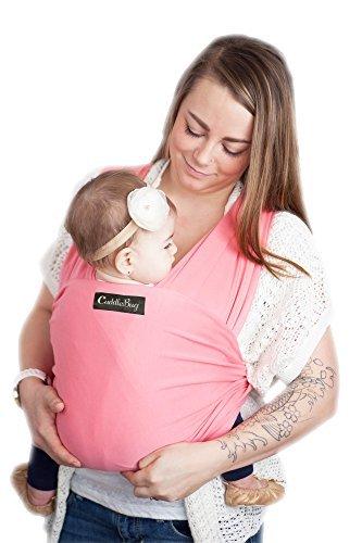 Babytragetuch - CuddleBug Baby Wrap - mit Gratisversand - Baby Carrier Sling - tragetuch baby (rosa)