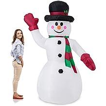 [lux.pro] Muñeco de nieve hinchable con LED brillantes - 240cm