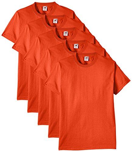 Fruit of the Loom Herren T-Shirt 5er-Pack Gr. Large, Orange - Orange (5 Melden)