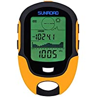SUNROAD FR500 Mini Multifunction Barometer Altimeter Compass LCD Display Digital Thermometer Watch-Hygrometer Weather Forecast LED Torch Waterproof