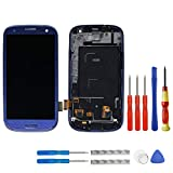 Swark Super AMOLED Display para Samsung Galaxy S3 I9300 SCH-i535 R530 Sprint L710 T999 i747 i9305...