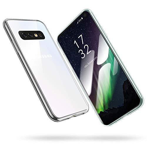 vau Hülle passend für Samsung Galaxy S10e - SoftGrip Case Silikon Handyhülle dünn durchsichtig transparent (Clear) (kompatibel zu Galaxy S10 e Lite)