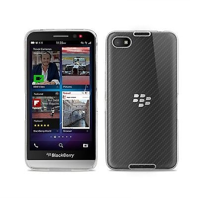 Gioiabazar Crystal Clear Transparent Hard TPU Case Cover for Blackberry Z30