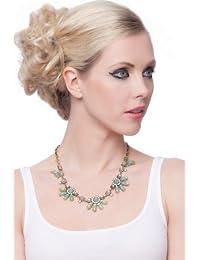 SEXYHER Exquisite Beautiful Legierung Edelstein Blumen Halskette SHADJANI20131007N024G