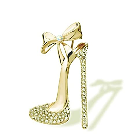 OULII Populaire 18k or rempli Crystal High Heels Shoes broche