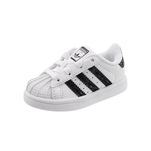 Adidas Superstar I–Chaussures Sportives, Unisexe Enfant, Blanc (Ftwbla/negbas/Ftwbla)