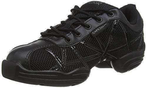 Capezio Damen Websneaker Sneaker, Schwarz (black/patent), 37 EU