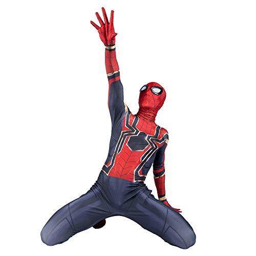 KOUYNHK Spiderman Cosplay Kostüm Avenger Infinity War Tom Holland Eisen Spider Man 3D Print Spandex Zentai Anzug Erwachsene - Holland Kostüm Kinder