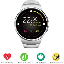 TechnoAohui Reloj Smart Wearable,Anti-perdido y cámara remota Pantalla táctil Podómetro Smart Wristband con cálculo de calorías/Monitor de ritmo cardíaco/Sleep Monitor/Recordatorio de mensajes y hacer llamadas telefónicas para Android/IOS teléfono móvil(Negro)