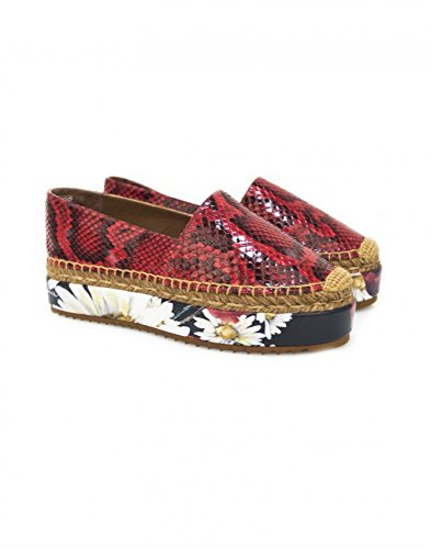 Dolce & Gabbana , Damen Espadrilles Rot rot, Rot - rot - Größe: 35 EU