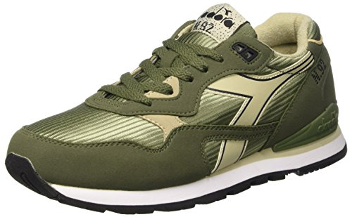 Diadora N-92, Scarpe Low-Top Unisex – Adulto Olivine Green Tidal Foam