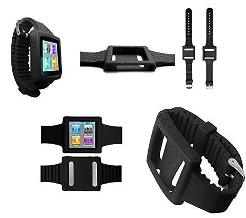piggyb Groovy Bracelet Coque en silicone pour Apple iPod nano 6G 6ème Génération