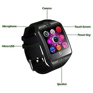 Smartwatch CHEREEKI Smart Watch Reloj Inteligente Bluetooth Smartwatch Teléfono Inteligente Pulsera de Pantalla Curvada Soporte SIM/TF para Android Samsung HTC LG Huawei Sony Xiaomi BQ