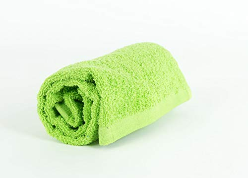 Serviettes et lingettes Sophie Vert Acide en coton Telo Verde Acido