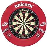 Unicorn Striker Surround - Diana de dardos, color negro/blanco/rojo/verde