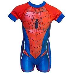 Spider-Man - Bañador Shorty Neopreno Natación Anti UV 50+ - para niño - 5761ES [Azul Rojo - 2 años - 92 cm]