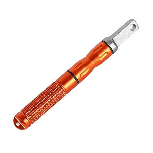 Tracffy Outdoor Survival Multifunktionale wasserdichte Feuerstein Magnesium Stürmer Feuer Starter Stick Rod Camping Fire Maker Feuerzeug - Orange