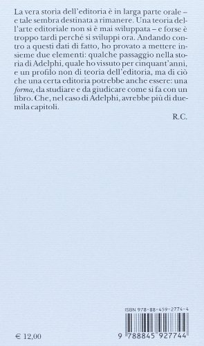 L'impronta dell'editore (Piccola biblioteca Adelphi)