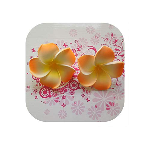 ia 100Pcs 4Cm Eva-Schaum-Köpfe der künstlichen Blume für Haar-Klipp-Partei-Hochzeit Dekoration, Rosa ()