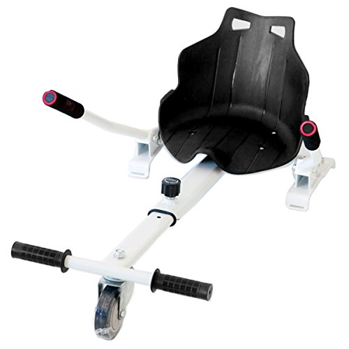 Hiboy-Asiento Kart para Patinete Eléctrico, Silla de Hoverboard Self Balancing Compatible con Todos los Patinetes Eléctricos de 6.5, 8 y 10 Pulgadas, Rojo