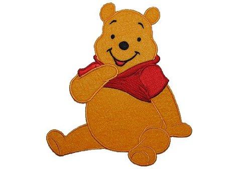 alles-meine.de GmbH XXL großes - Bügelbild - Winnie The Pooh - 17,5 cm * 19,7 cm - Aufnäher Applikation Patch Bär / Bügelflicken Puuh Aufbügelflicken - Flicken Teddy Teddybär BAB.. -