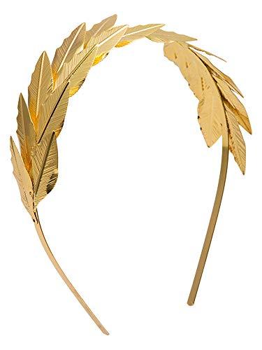 Orlob Goldener Lorbeer Haarreif zum Kostüm antike Römerin Cleopatra Caesar - Tolles Zubehör Verkleidung antiker Held griechische Göttin