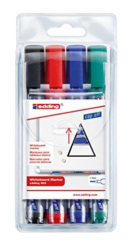 edding 363 Boardmarker (Keilspitze), 4-stück farblich sortiert
